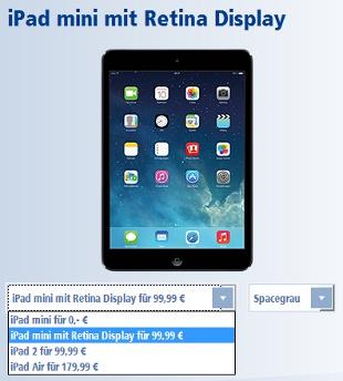 1&1 DSL Flat mit iPad