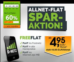 Crash-Tarife Allnet Flat Telekom Netz für 4,95 Euro