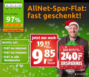 Crash-Tarife Klarmobil Weihnachtsaktion