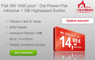 Maxxim 1GB Allnet Flat im O2 Netz