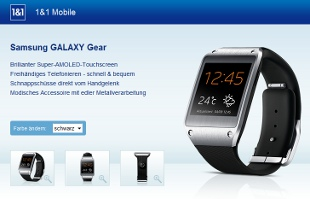 Galaxy Gear Smartwatch bei 1&1