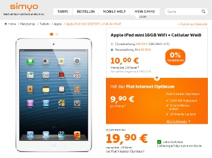 Simyo ipad mini Deal