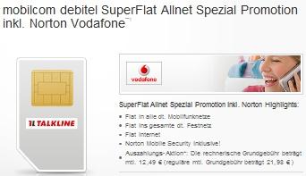 Talkline Allnet Flat Aktion (Vodafone D2 Netz)
