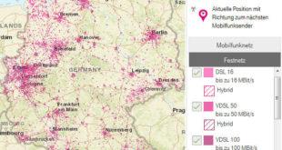DSL Verfügbarkeit Telekom Karte