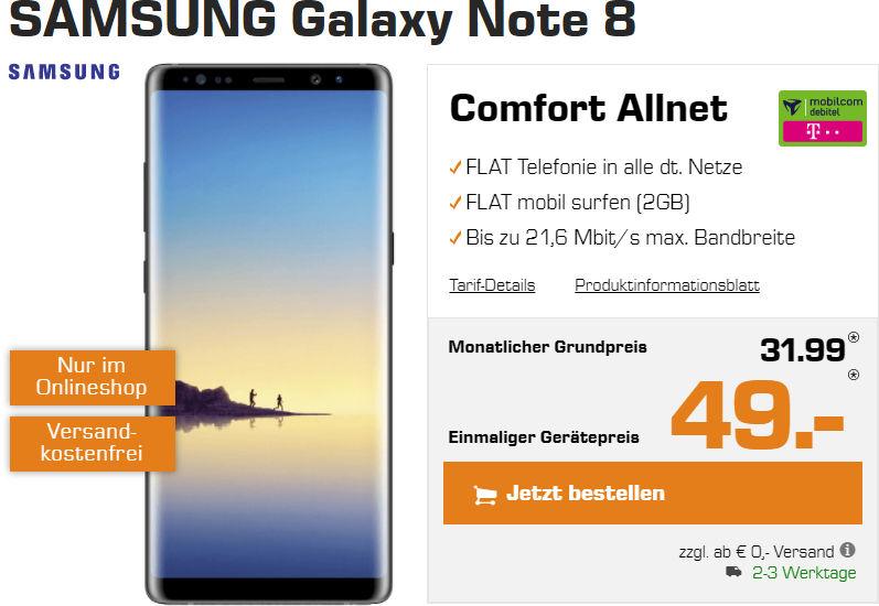 Galaxy Note 8 Allnet Flat Vertrag
