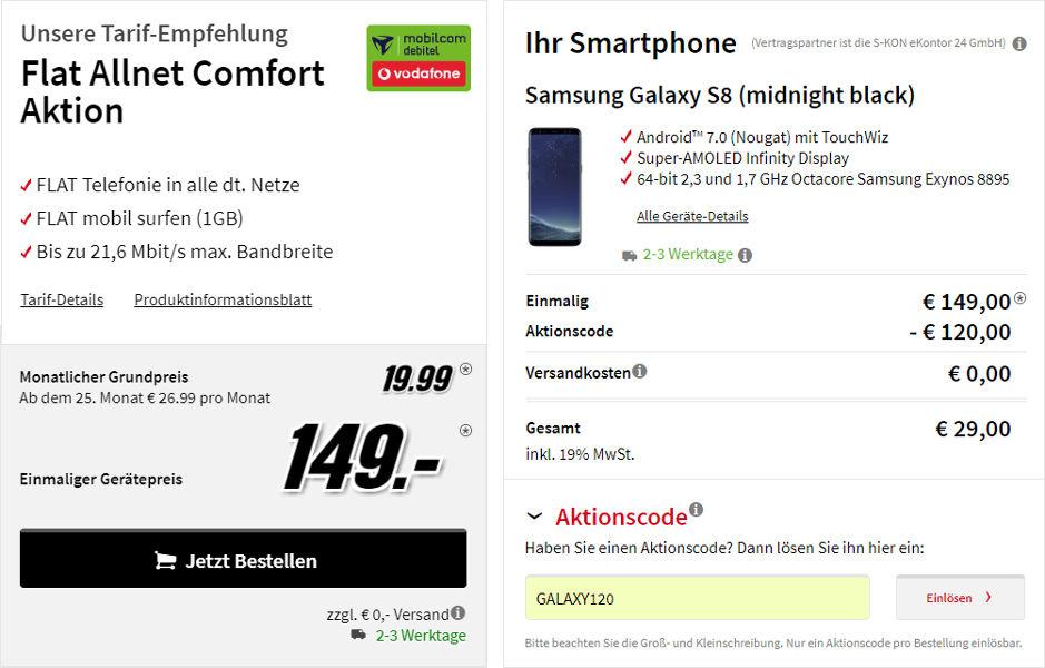Galaxy S8 Media Markt Rabattcode