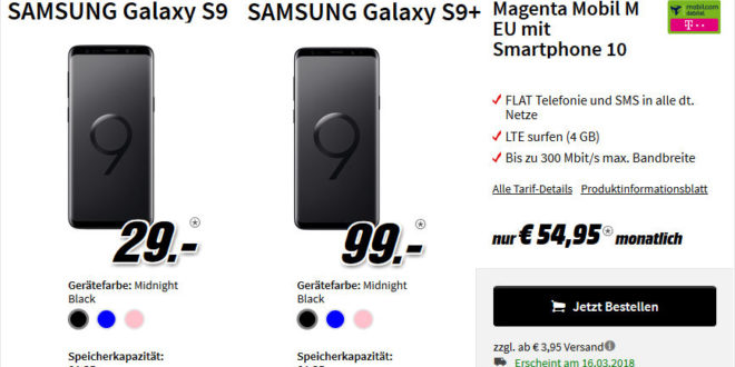 samsung galaxy s9 plus mit o2 vertrag allnet 15gb