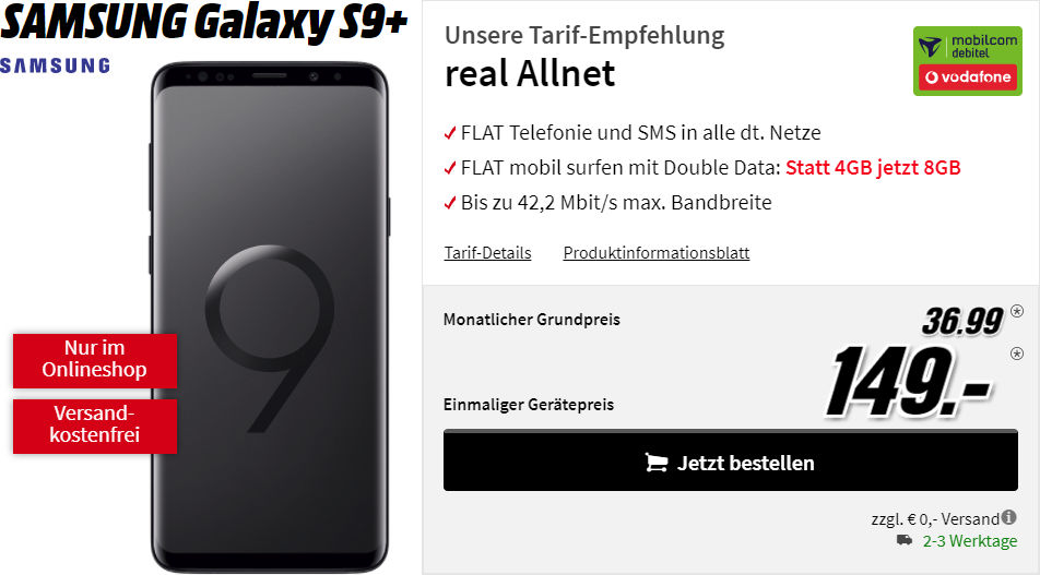 Galaxy S9 Plus Vertrag Media Markt Saturn