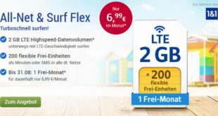GMX (WEB.DE) All-Net & Surf Flex Handyvertrag
