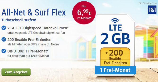 GMX (WEB.DE) All-Net & Surf Flex Handyvertrag