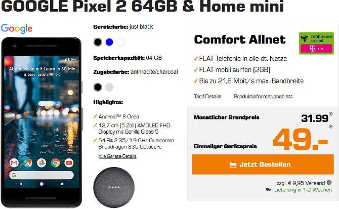 Google Pixel 2 Allnet Flat Vertrag