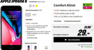 iPhone 8 mit Telekom Allnet Flat Vertrag Mediamarkt