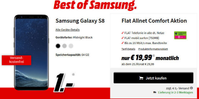 saturn samsung galaxy s8 mit 3gb lte allnet flat vertrag. Black Bedroom Furniture Sets. Home Design Ideas