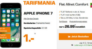 Saturn Tarifmania Deal - iPhone 7 Telekom Allnet Flat Vertrag