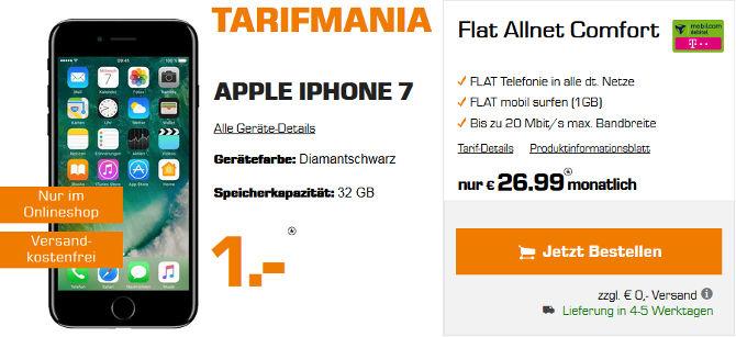 Saturn Tarifmania Deal - iPhone 7 Telekom Allnet Flat Vertrag