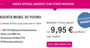 Telekom Magenta Mobil XS Young Cyber Weekend