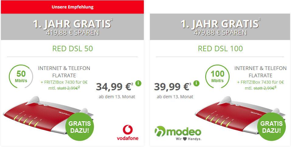 Vodafone DSL Deal Modeo
